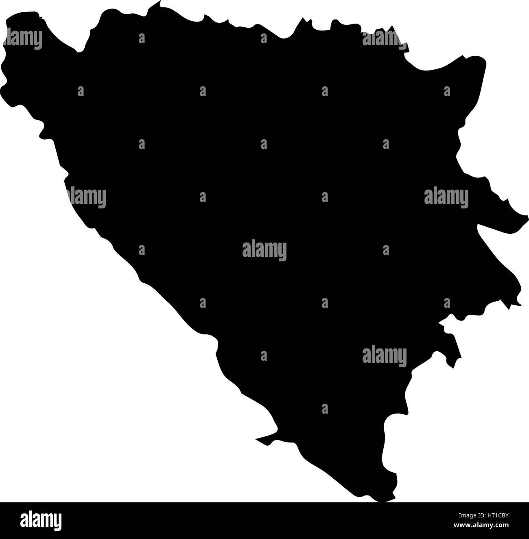 High detailed vector map - Bosnia and Herzegovina - Stock Image