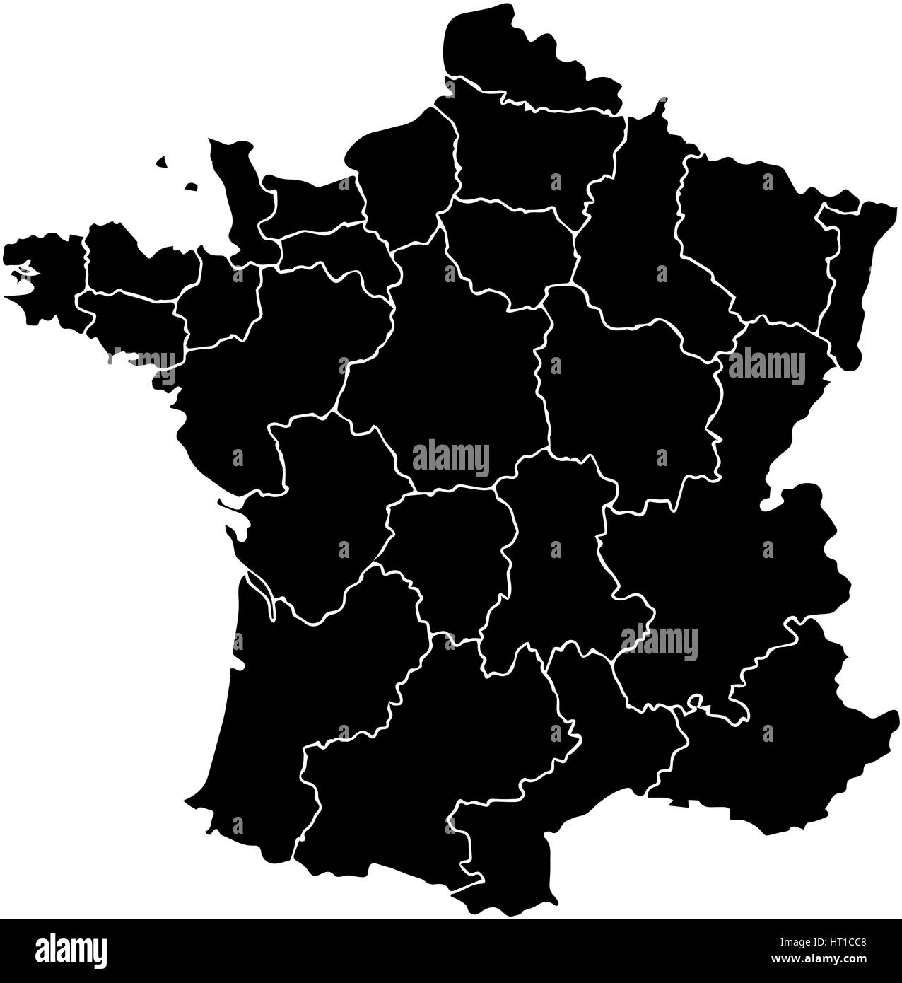 Detailed Map Of France Regions.France Map Stock Photos France Map Stock Images Alamy