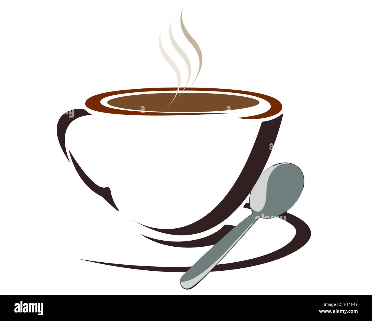 Ground Coffee Stock Vector Images - Alamy