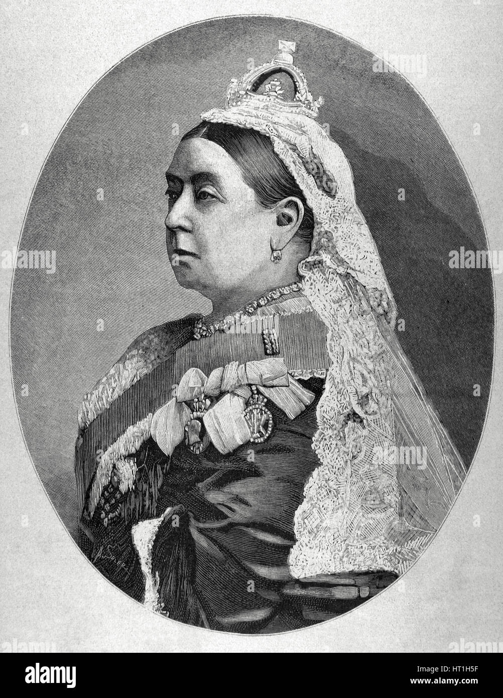 Victoria I (1819-1901). Queen of the United Kingdom of Great Britain and Ireland (1837-1901) and Empress of India - Stock Image