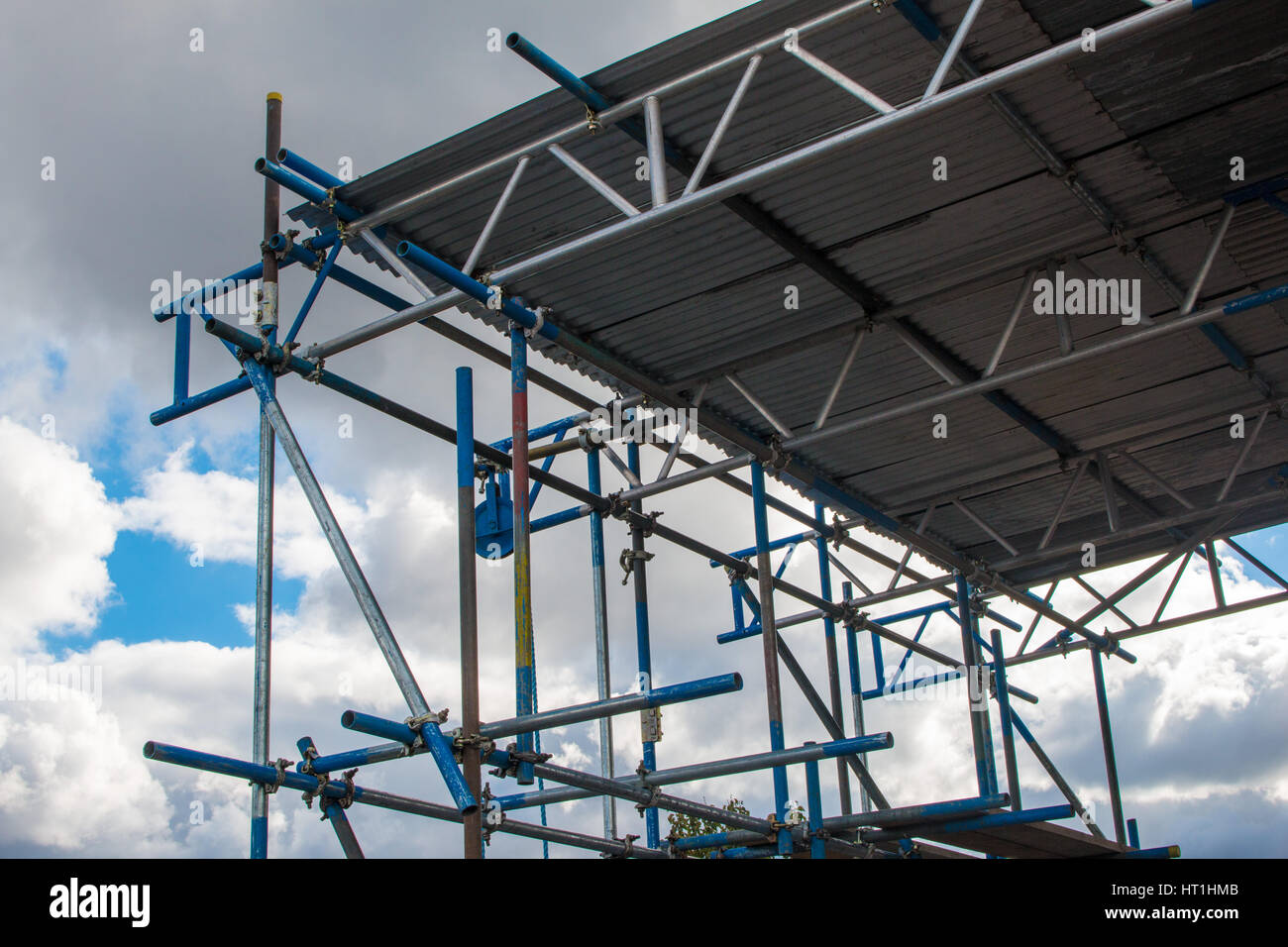 Scaffold in the sky - Stock Image