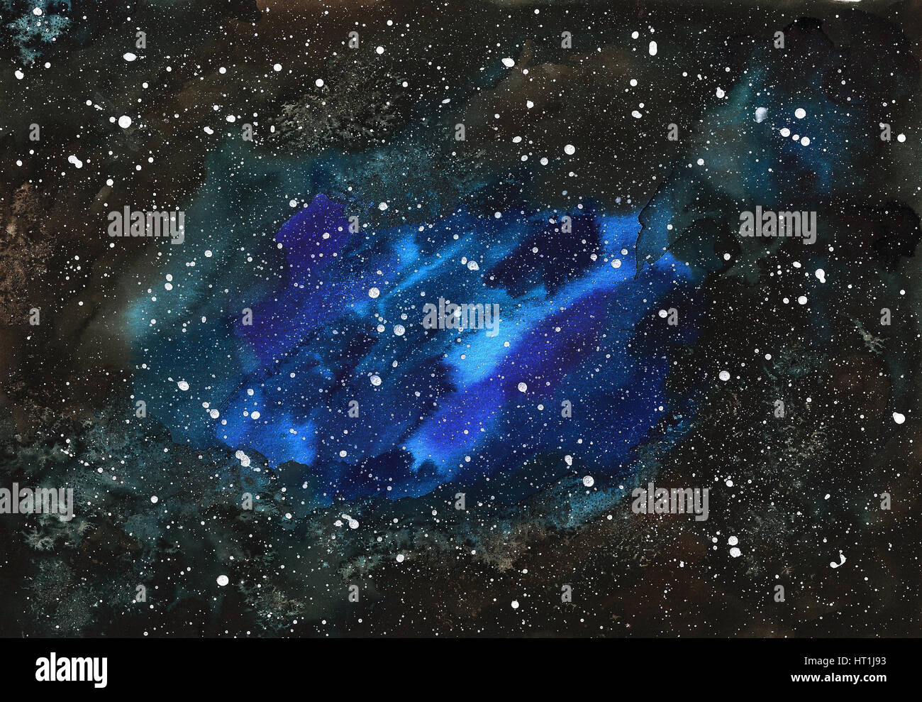 Watercolor Galaxy High Resolution Stock Photography And Images Alamy