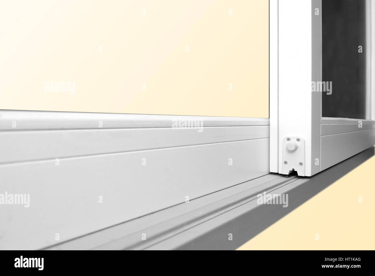 Sliding Glass Door Detail And Rail Embed In Wooden Floor