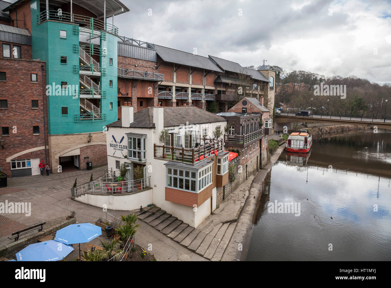 The Riverside Bars And Shops At Durham City Center England Uk Stock