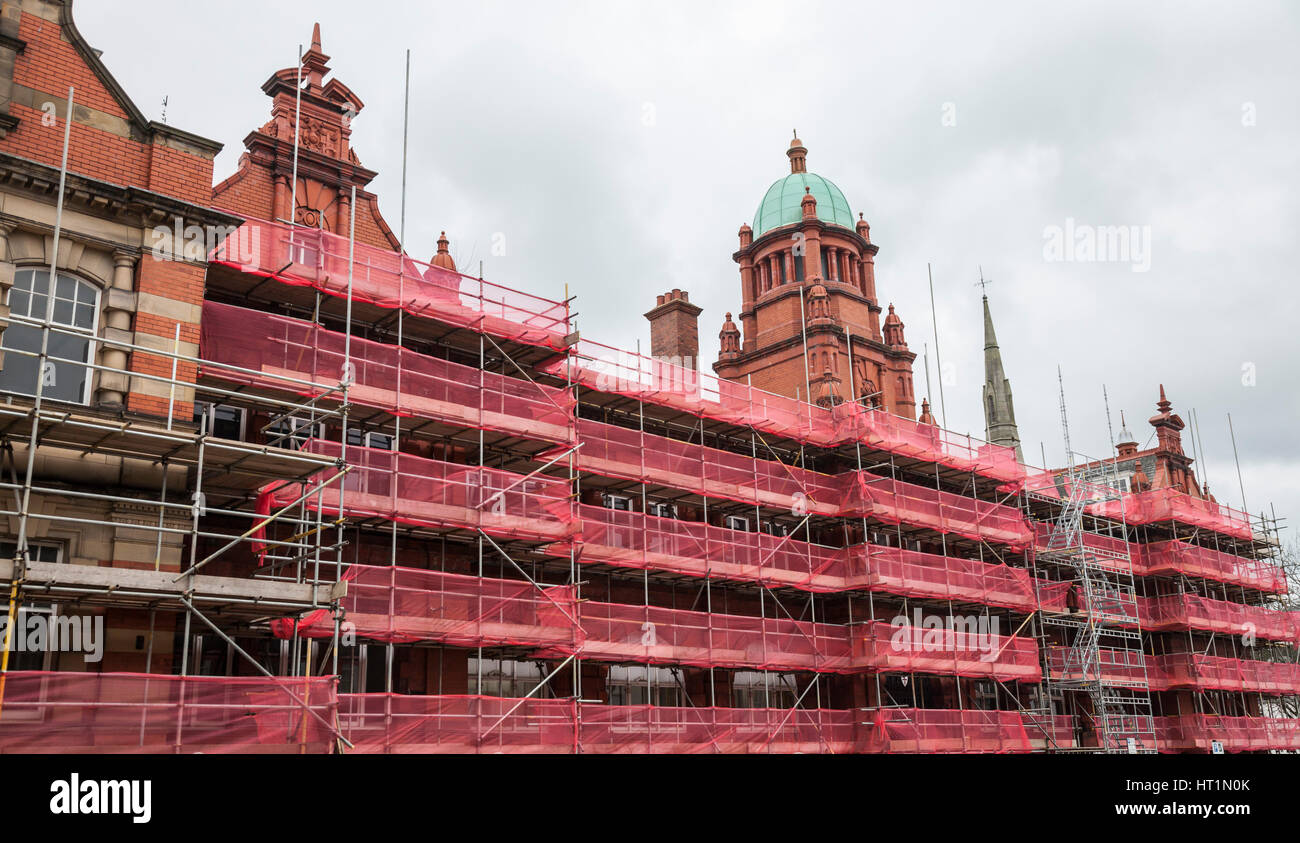 The Victorian Old Shire Hall building in Durham being transformed into Hotel Indigo Stock Photo
