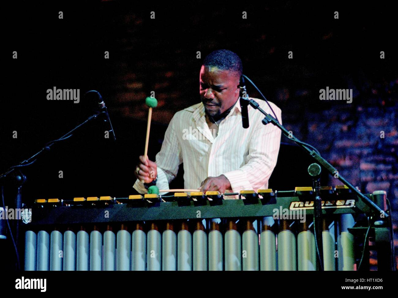 Stefon Harris, Brecon Jazz Festival, August 2004.  Artist: Brian O'Connor.Stock Photo