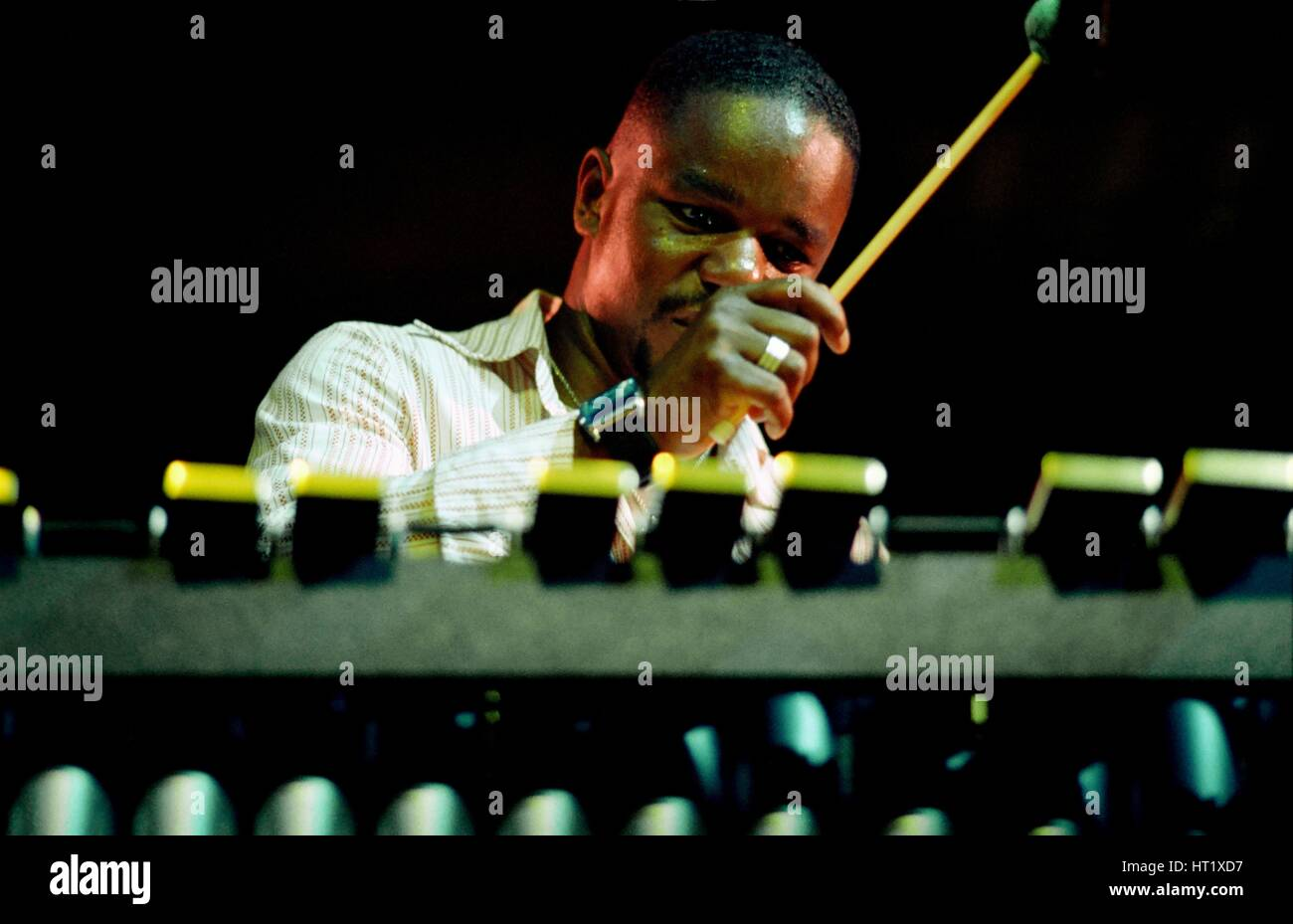 Stefon Harris, Brecon Jazz Festival, August 2004.  Artist: Brian O'Connor. Stock Photo