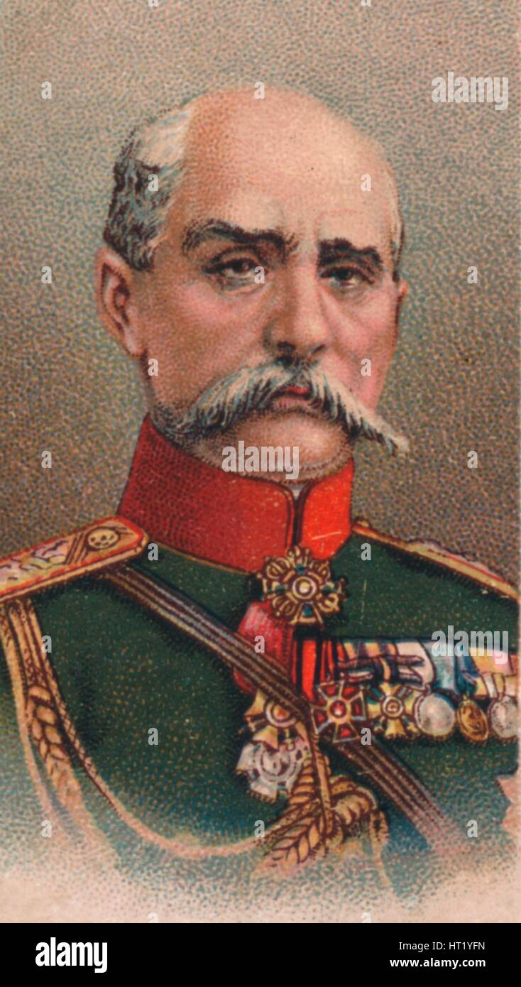 General Platon Lechitsky (1856-1921), Russian commander in the First World War, 1917. Artist: Unknown - Stock Image