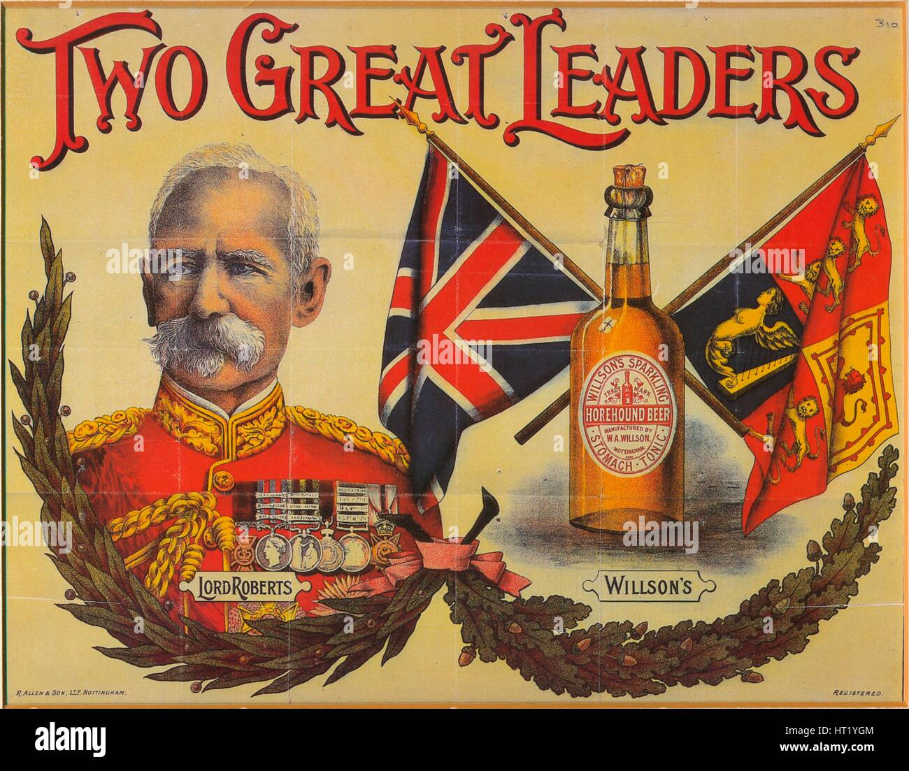 Two Great Leaders, c19th century. Artist: Unknown - Stock Image