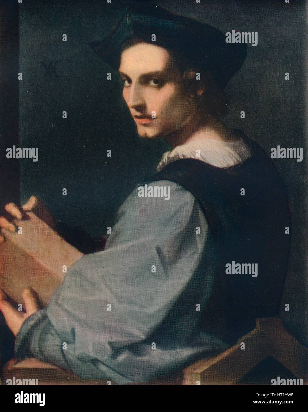 Portrait of a Young Man, c1517, (1911). Artist: Andrea del Sarto - Stock Image