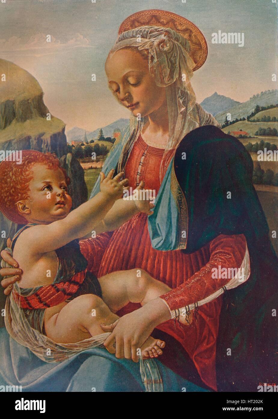 Virgin and Child, c1470, (1911). Artist: Andrea del Verrocchio - Stock Image