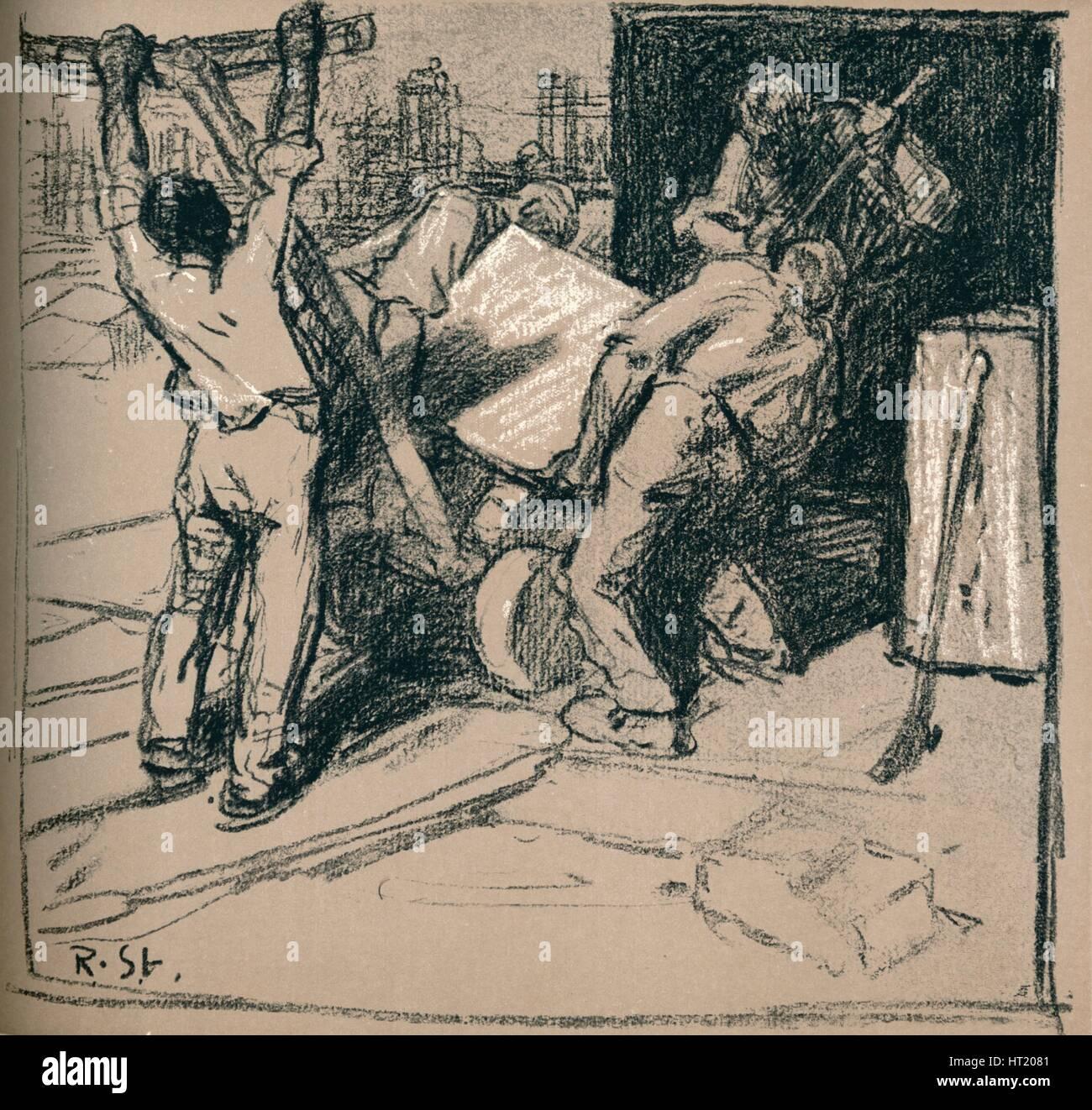 'Quarrymen', c1900 (1902). Artist: Robert Hermann Sterl. - Stock Image
