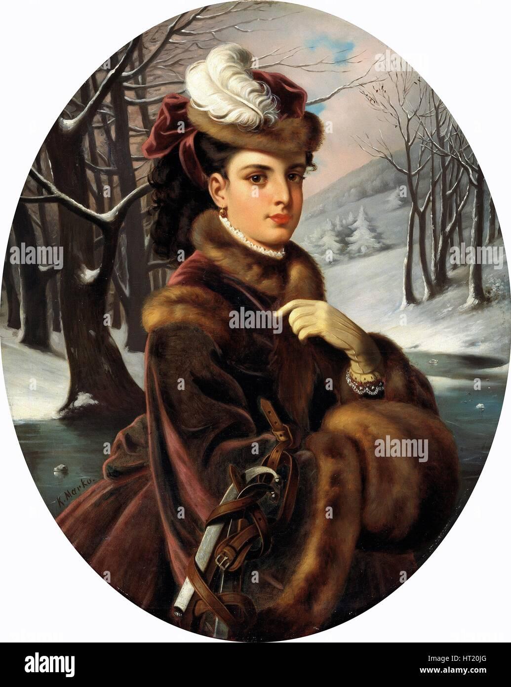 'Adelina Patti', (1843-1919), 1873-75. Artist: Karoly Marko the Younger - Stock Image