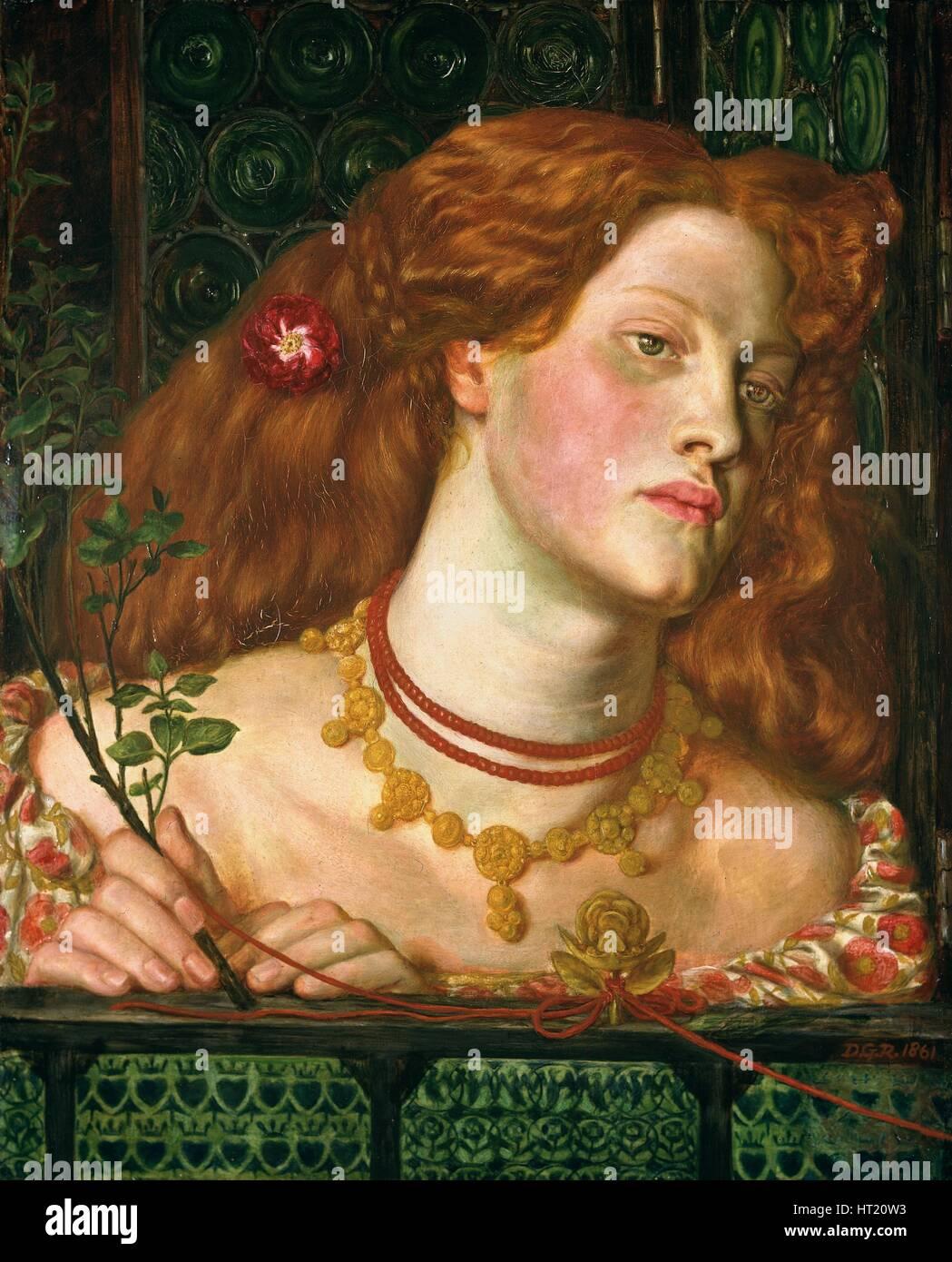 'Fair Rosamund', 1861. Artist: Dante Gabriel Rossetti - Stock Image