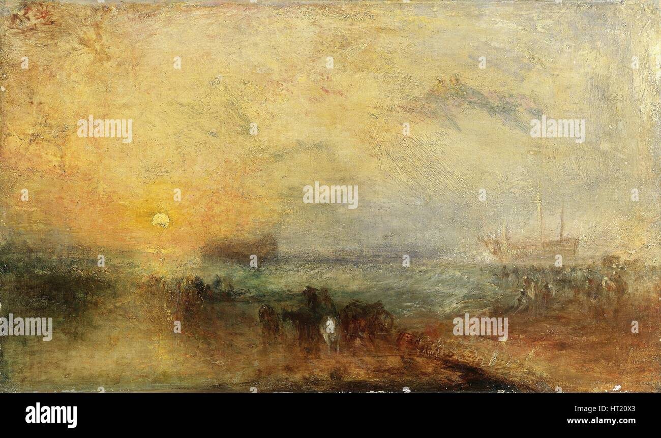 'The morning after the storm', 1840-45. Artist: JMW Turner. - Stock Image