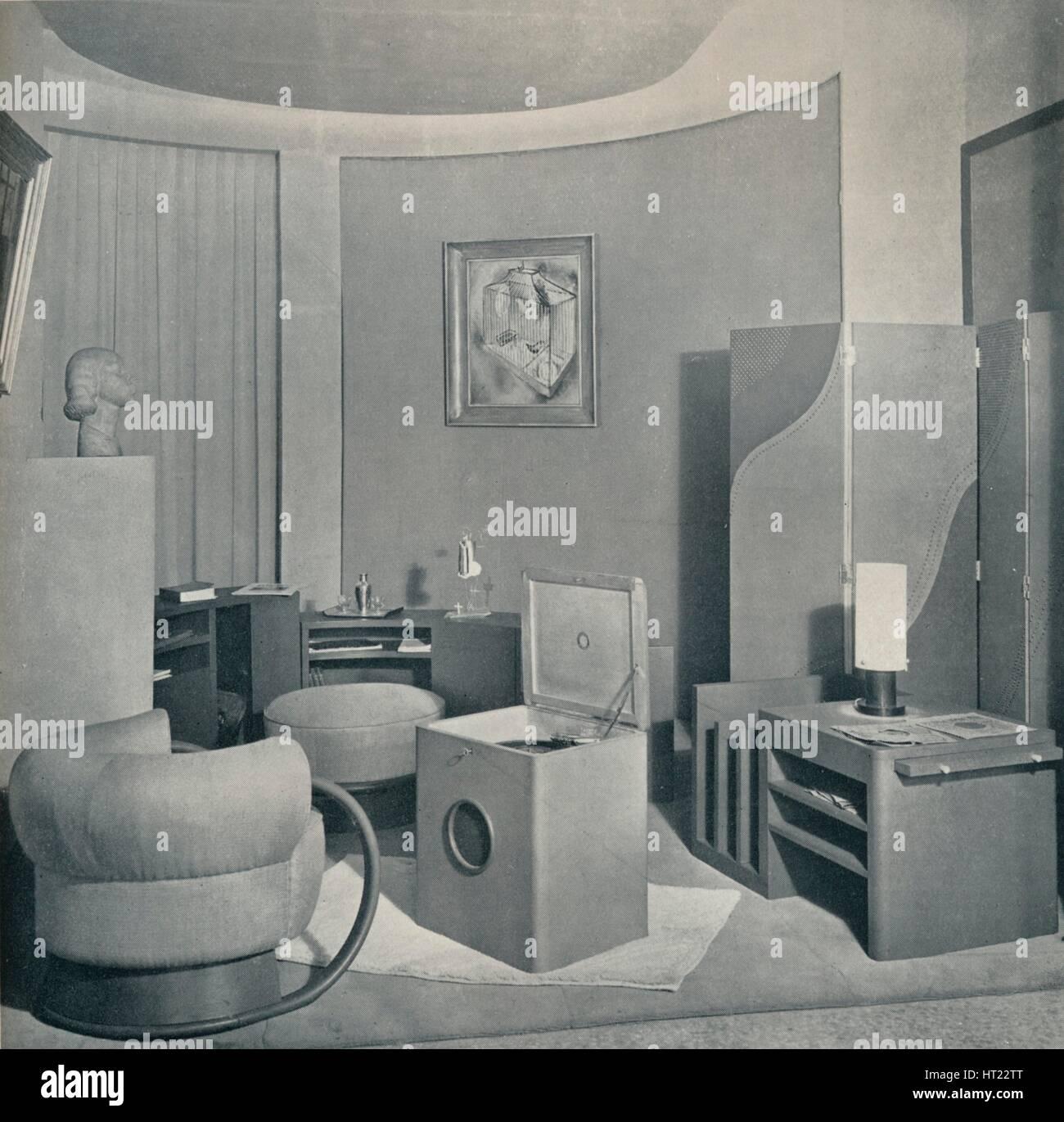 'Boudoir from the Salon des Artistes Decorateurs, 1929, by DIM', c1930. - Stock Image