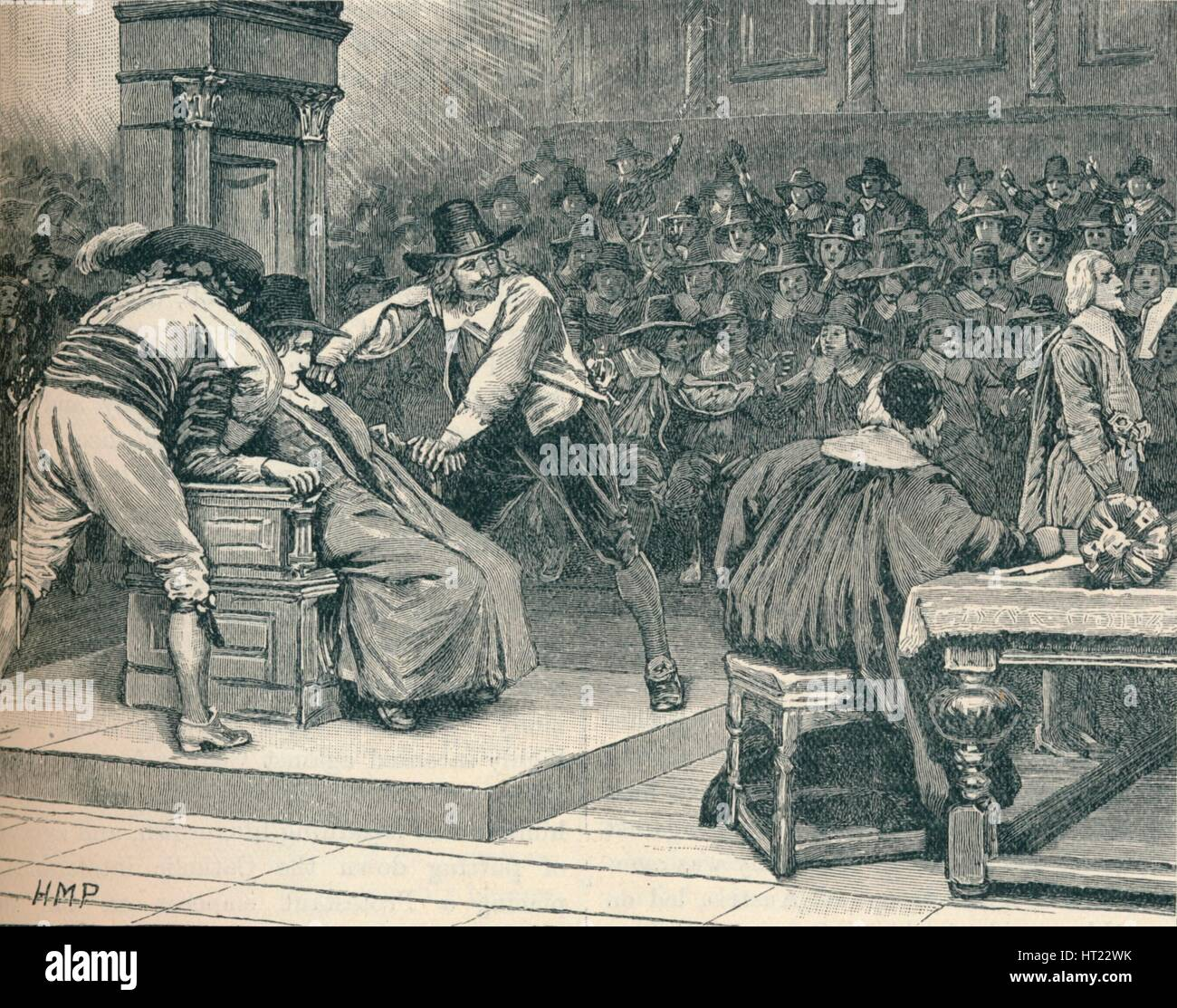 Scene in the House of Commons: the Speaker coerced, 1629 (1905).