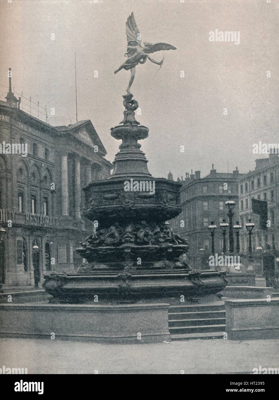 'Shaftesbury Memorial Fountain', c1909. Artist: Frederick Hollyer. - Stock Image