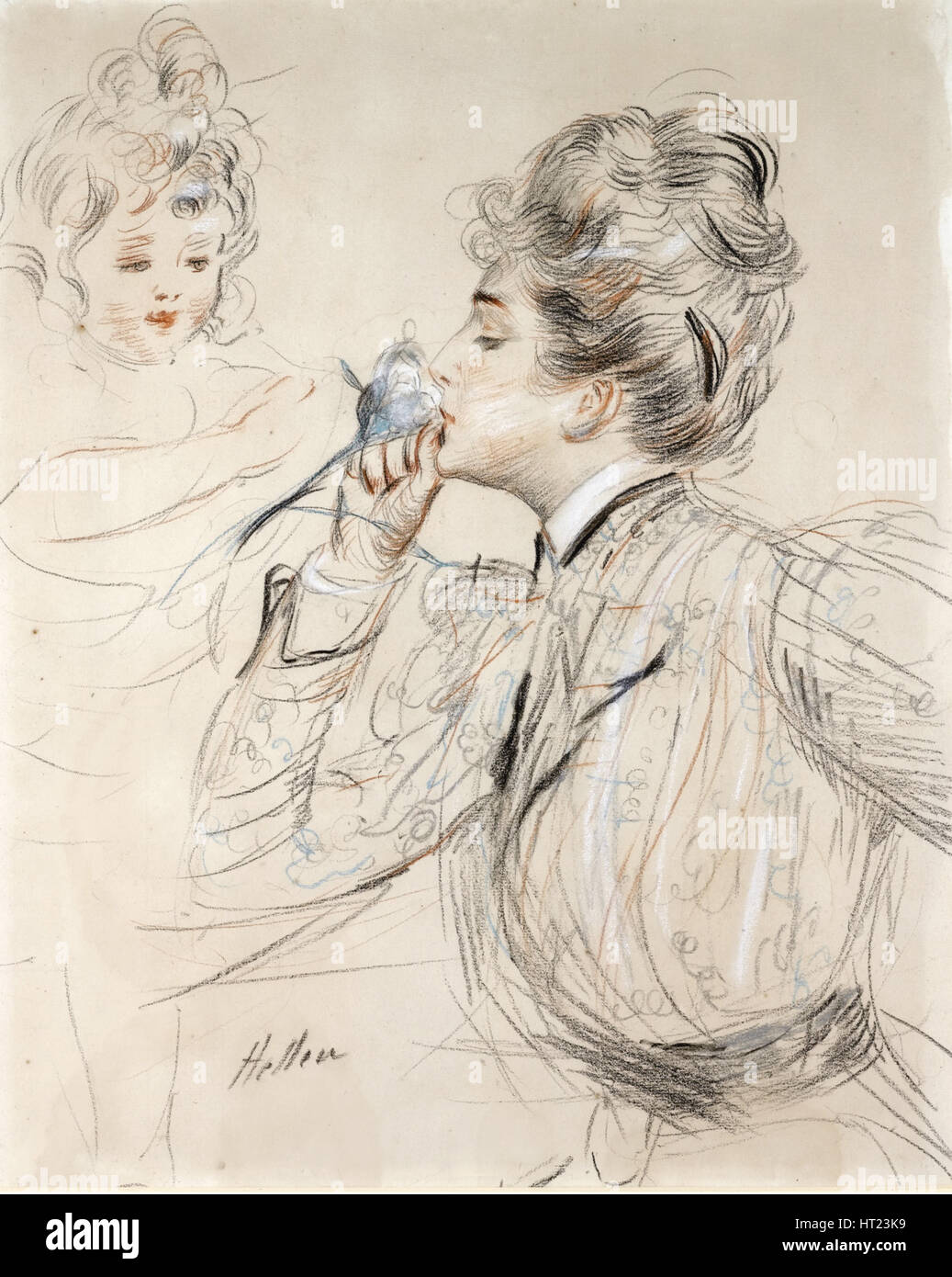 Le Parfum. Artist: Helleu, Paul César (1859-1927) - Stock Image