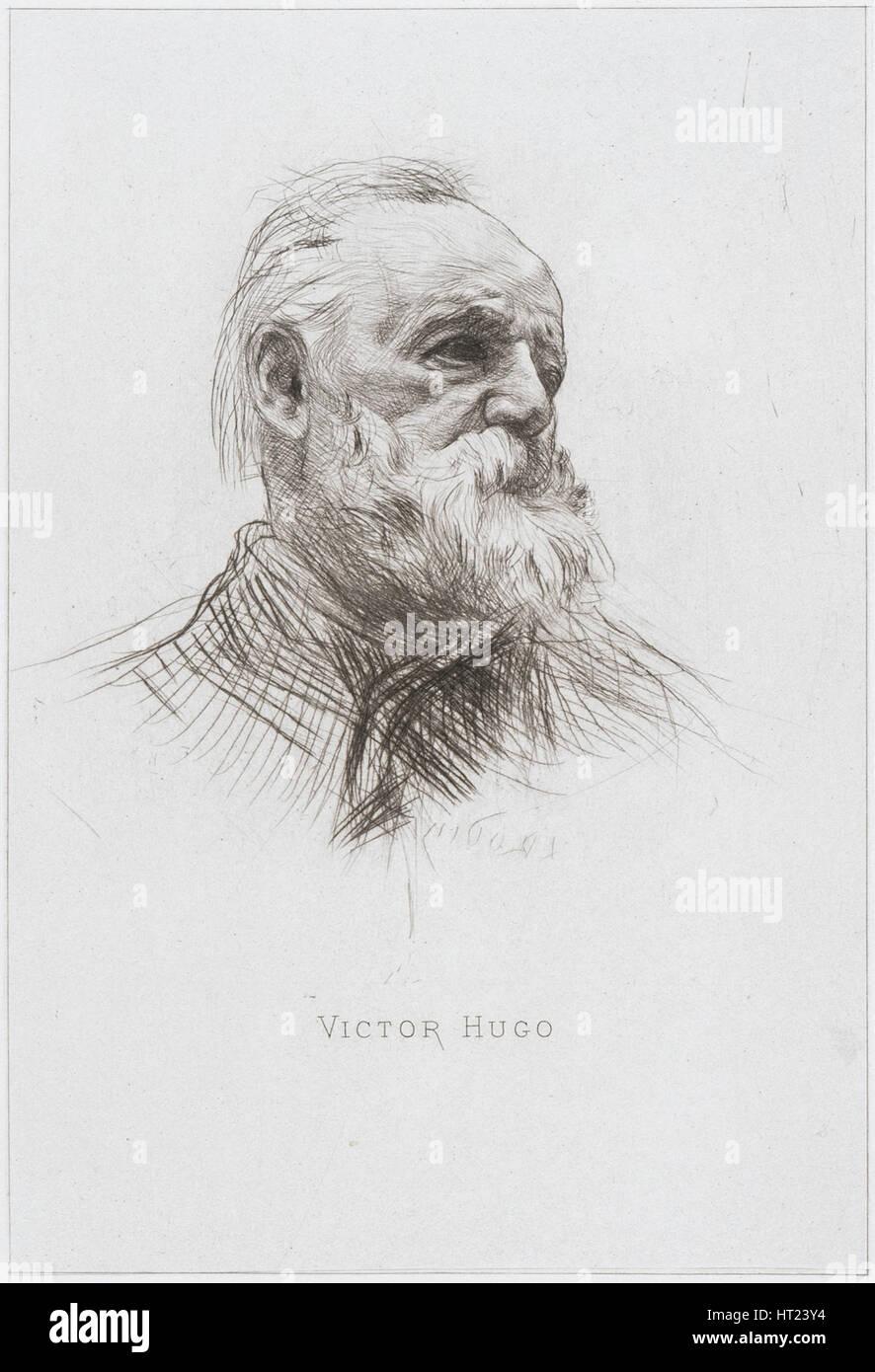 Victor Hugo, 1884. Artist: Rodin, Auguste (1840-1917) - Stock Image