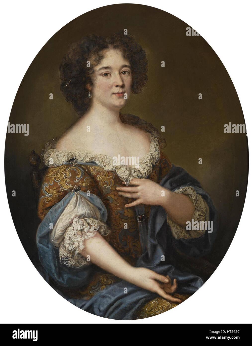 Portrait of Marie Mancini (1639-1715). Artist: Mignard, Pierre (1612-1695) - Stock Image