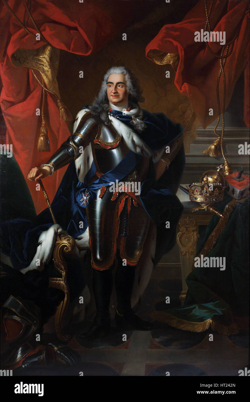 Portrait of Frederick Augustus of Poland and Saxony (1670-1733). Artist: Silvestre, Louis de, (Copy) (1675-1760) - Stock Image