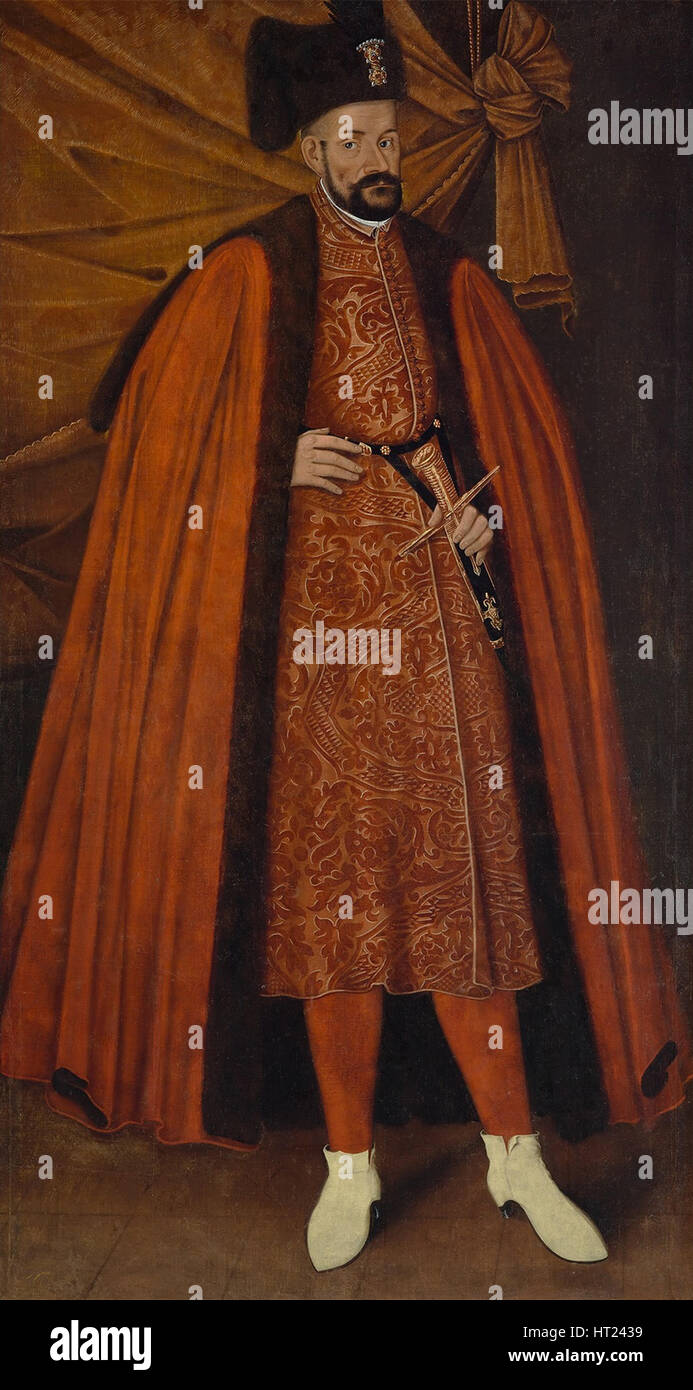 Portrait of Stephen Báthory of Poland, First Half of 17th century. Artist: Anonymous - Stock Image