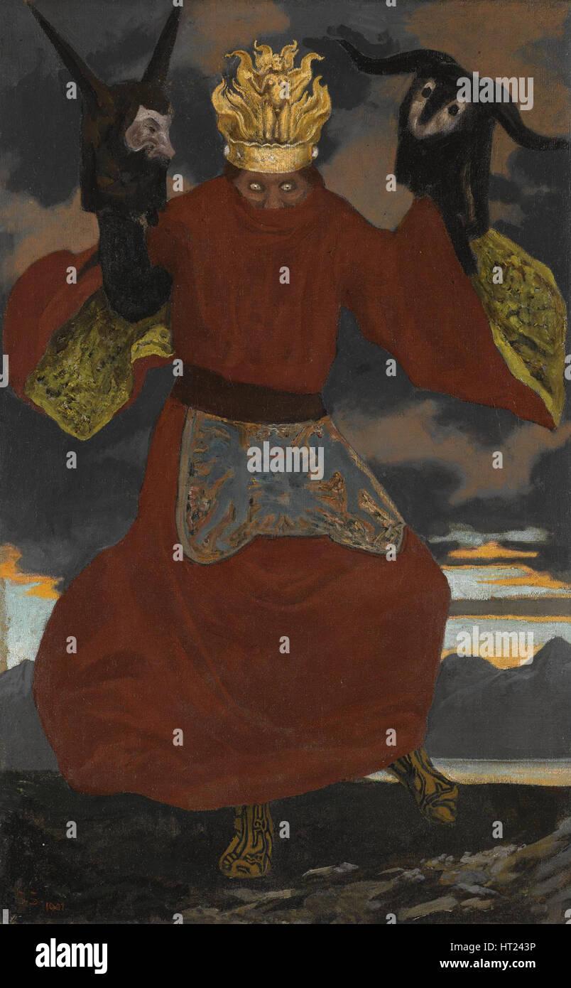 The Shaman, 1901. Artist: Schneider, Sascha (Karl Alexander) (1870-1927) - Stock Image