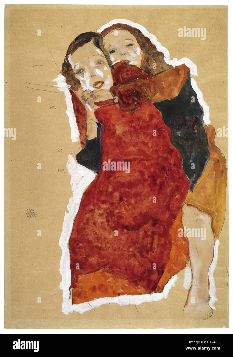 Two girls, 1911. Artist: Schiele, Egon (1890-1918) - Stock Image