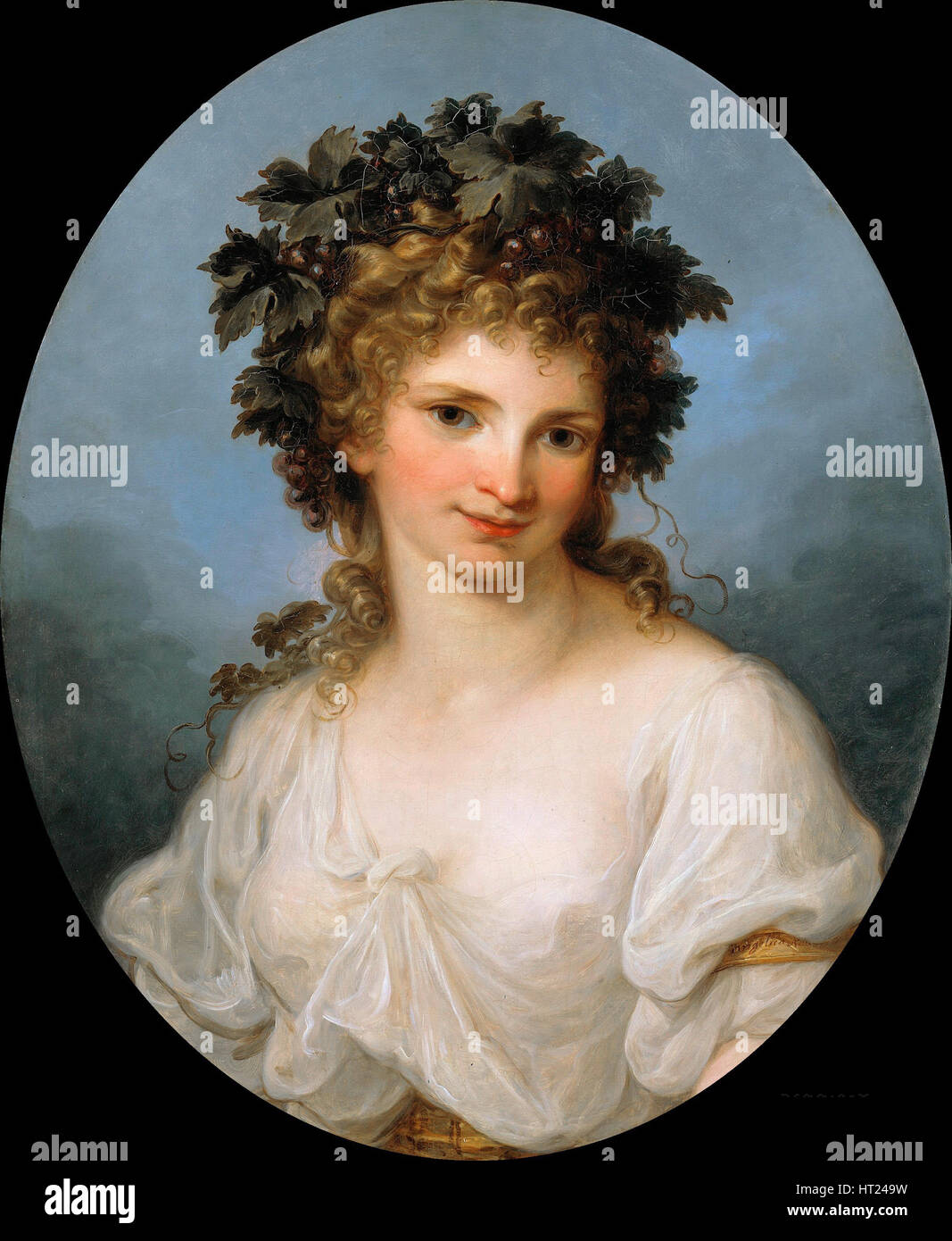 Self-portrait as Bacchante, before 1786. Artist: Kauffmann, Angelika (1741-1807) Stock Photo