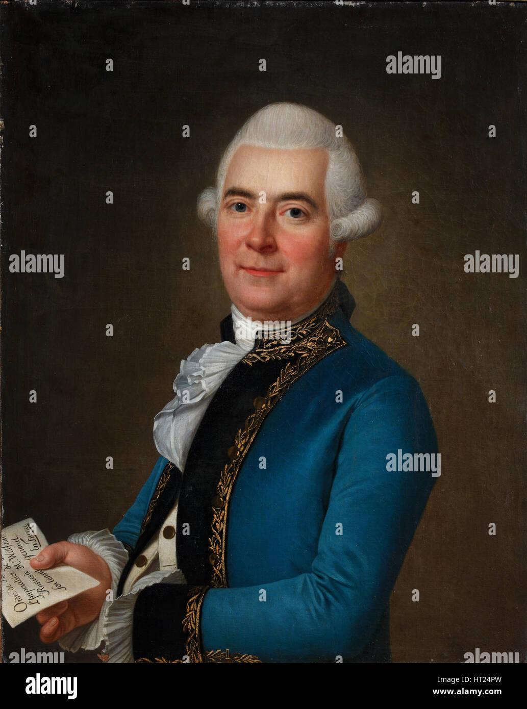 Portrait of Arvid Wittfooth, 1789. Artist: Wertmüller, Adolf Ulrik (1751-1811) - Stock Image