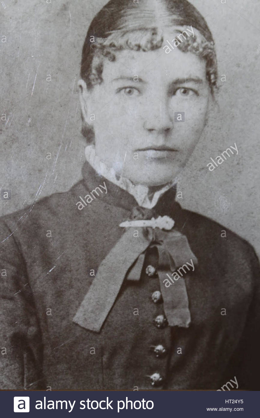 Laura Ingalls Wilder (1867-1957) as schoolteacher, 1887. Artist: Anonymous - Stock Image