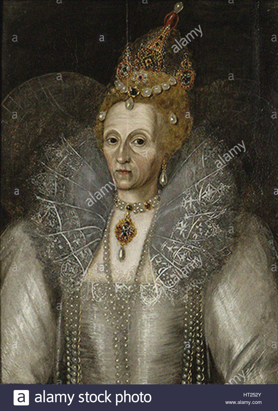 Portrait of Elizabeth I of England (1533-1603), ca 1593. Artist: Anonymous
