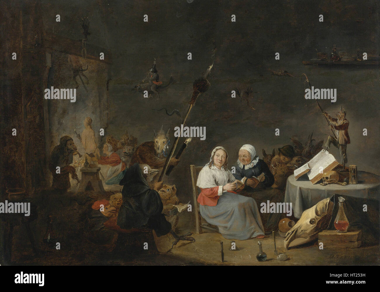 The Witches' Sabbath. Artist: Teniers, David, the Younger (1610-1690) - Stock Image