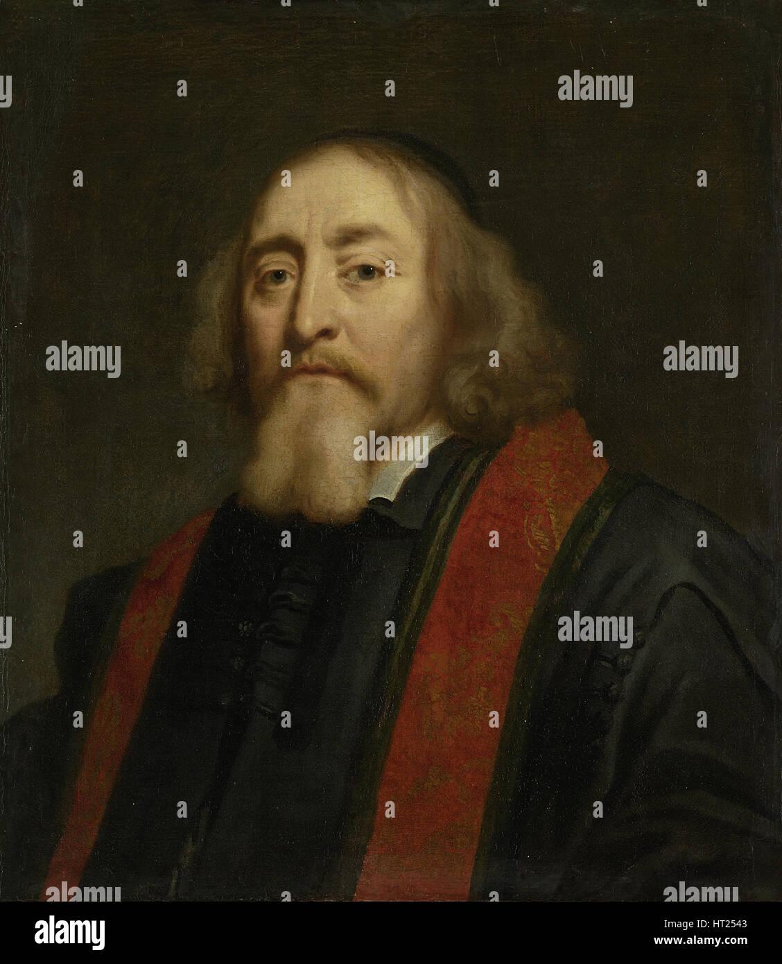 Portrait of Jan Amos Comenius (1592-1670), Betveen 1650 and 1670. Artist: Ovens, Jürgen (1623-1678) - Stock Image