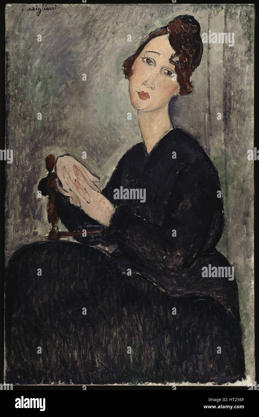 Portrait of Dèdie, 1918. Artist: Modigliani, Amedeo (1884-1920) - Stock Image