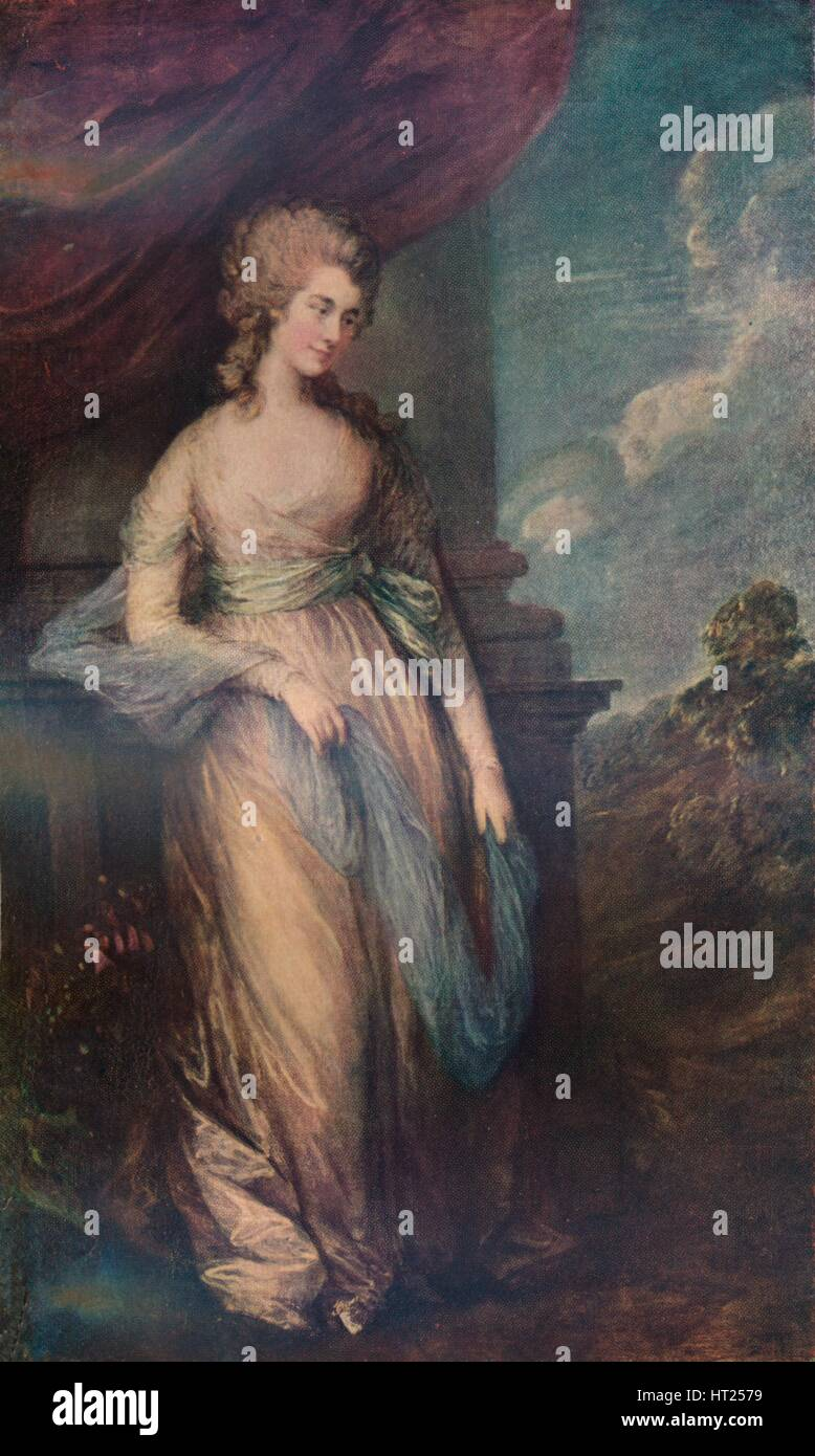 'Georgiana, Duchess of Devonshire', 1783, (1911). Artist: Thomas Gainsborough. - Stock Image