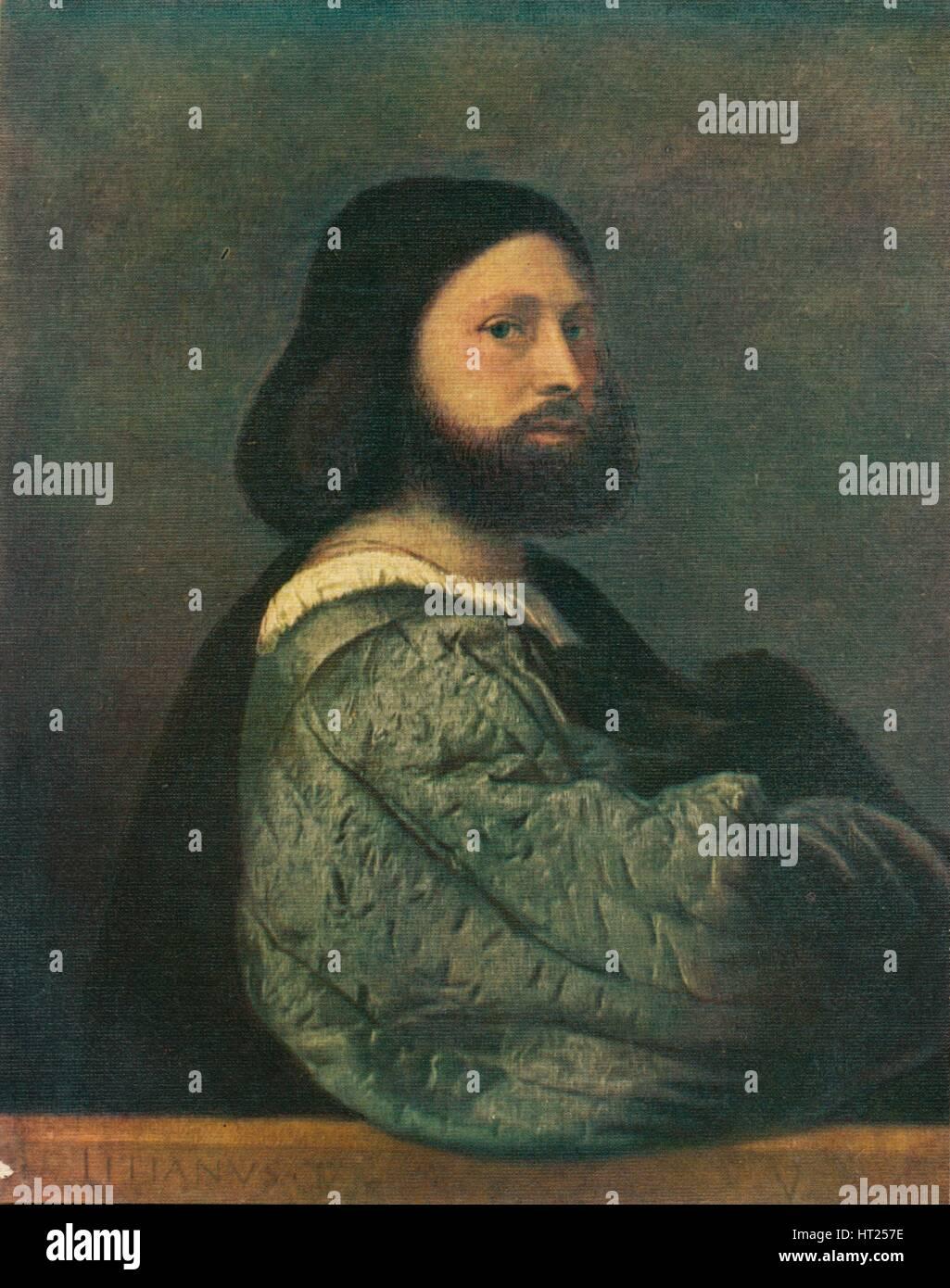 'Portrait of Gerolamo Barbarigo', 1510, (1909). Artist: Titian. - Stock Image