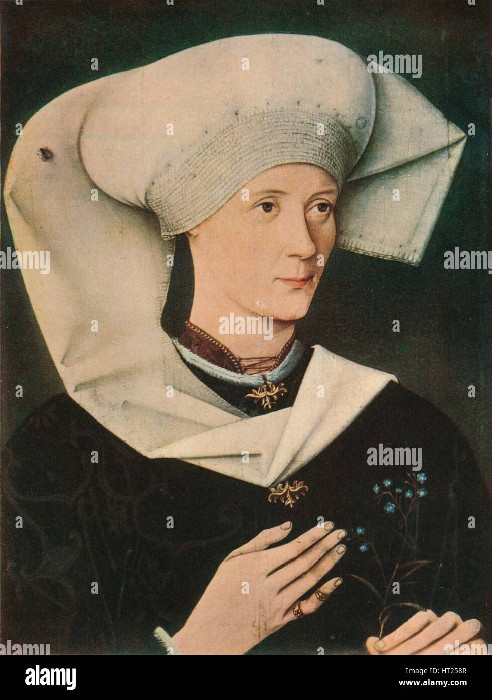 'Portrait of a Woman of the Hofer Family', 1470, (1909). Artist: Unknown. - Stock Image
