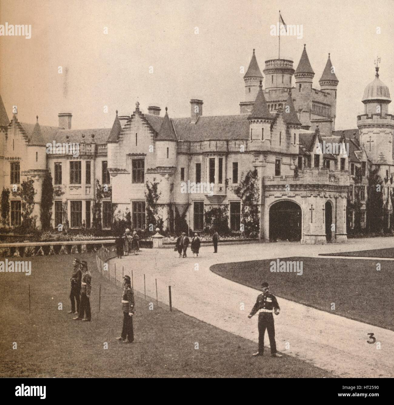 'Balmoral Castle, Their Majesties' Highland Home', c1916, (1935). Artist: Unknown. - Stock Image