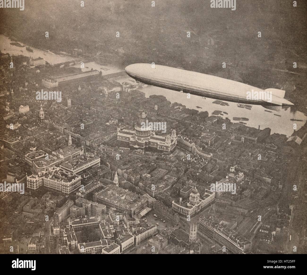 'The tour of the Graf Zeppelin over Great Britain, August 1931', 1931 (1935). Artist: Unknown. - Stock Image
