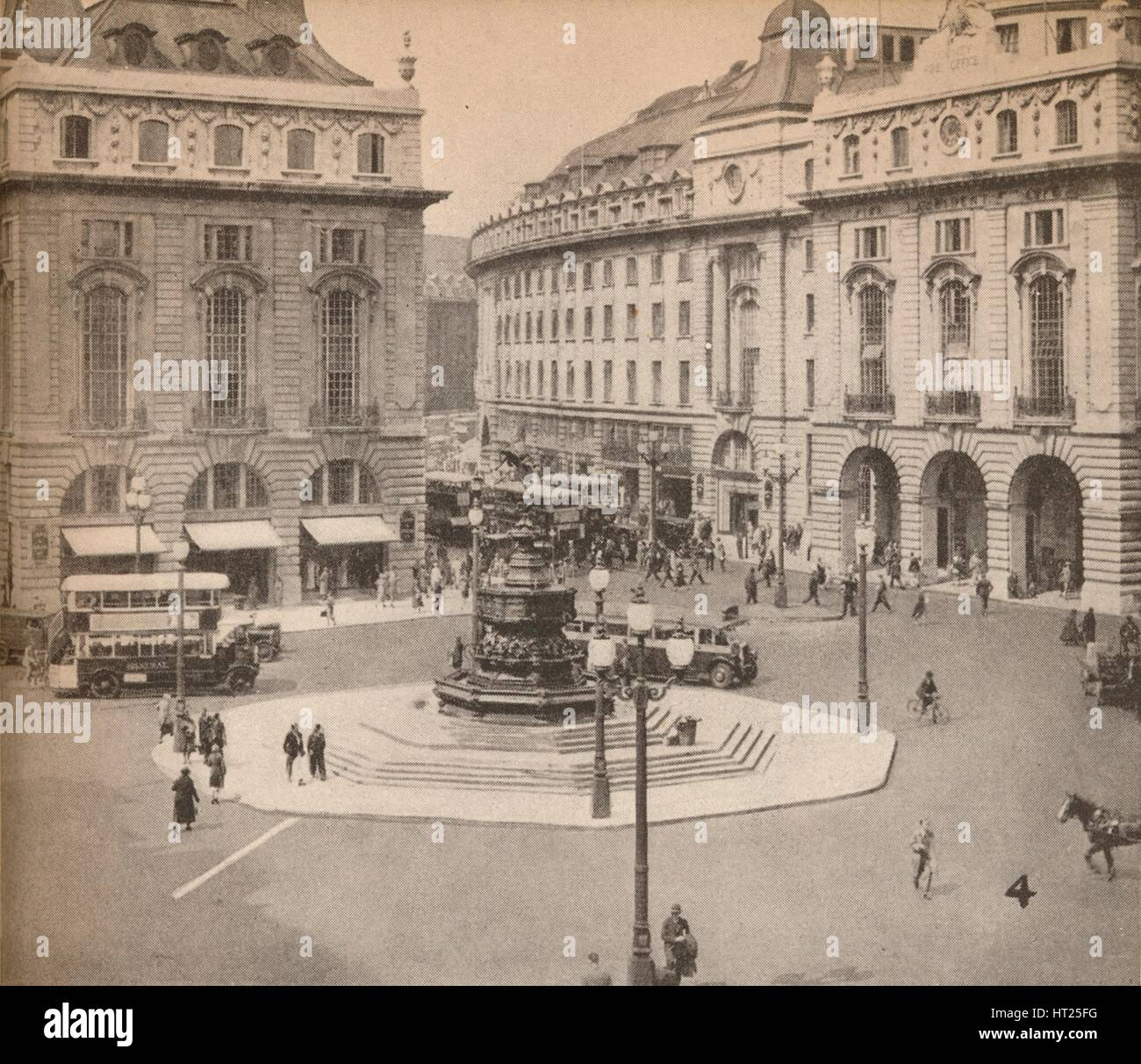 Piccadilly Circus 1931, (1935). Artist: Unknown. - Stock Image