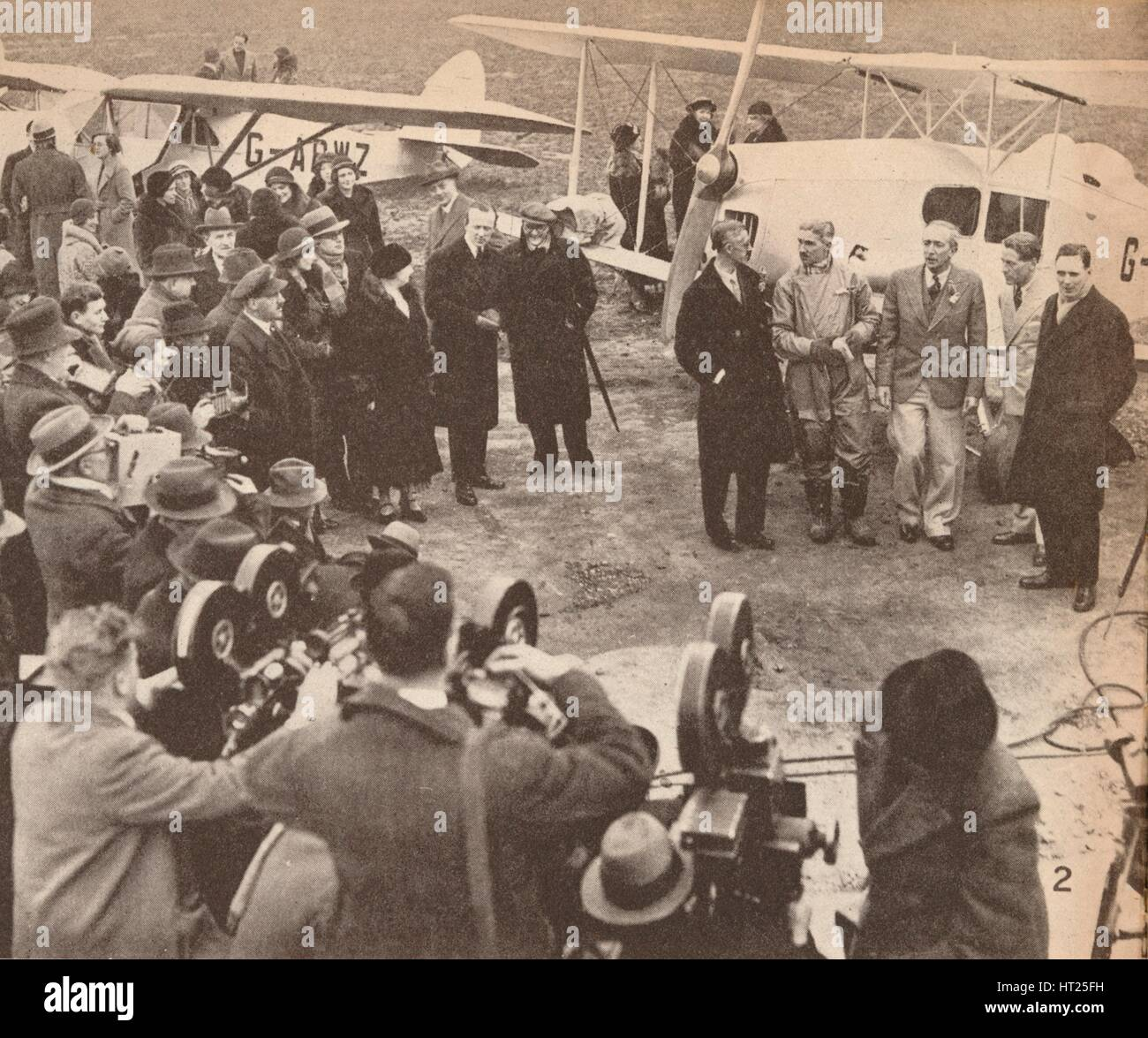 'Members of the Expedition at Heston Airport, February, 17, 1933, just before leaving for India', c1 Artist: - Stock Image