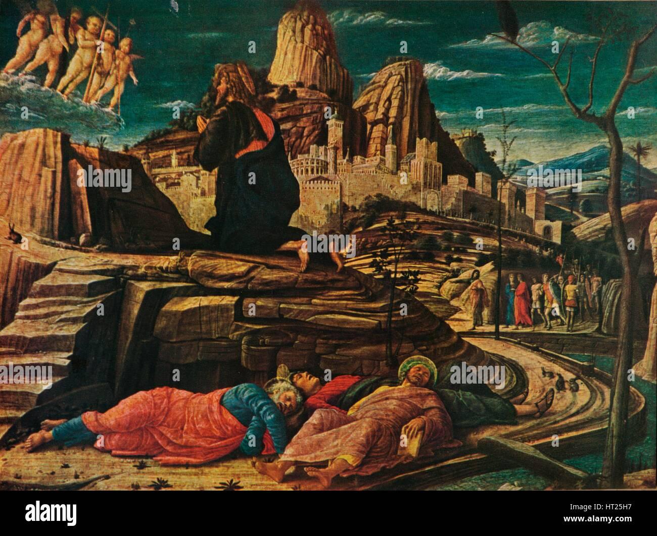 'The Agony in the Garden', c1458, (1909). Artist: Andrea Mantegna. - Stock Image
