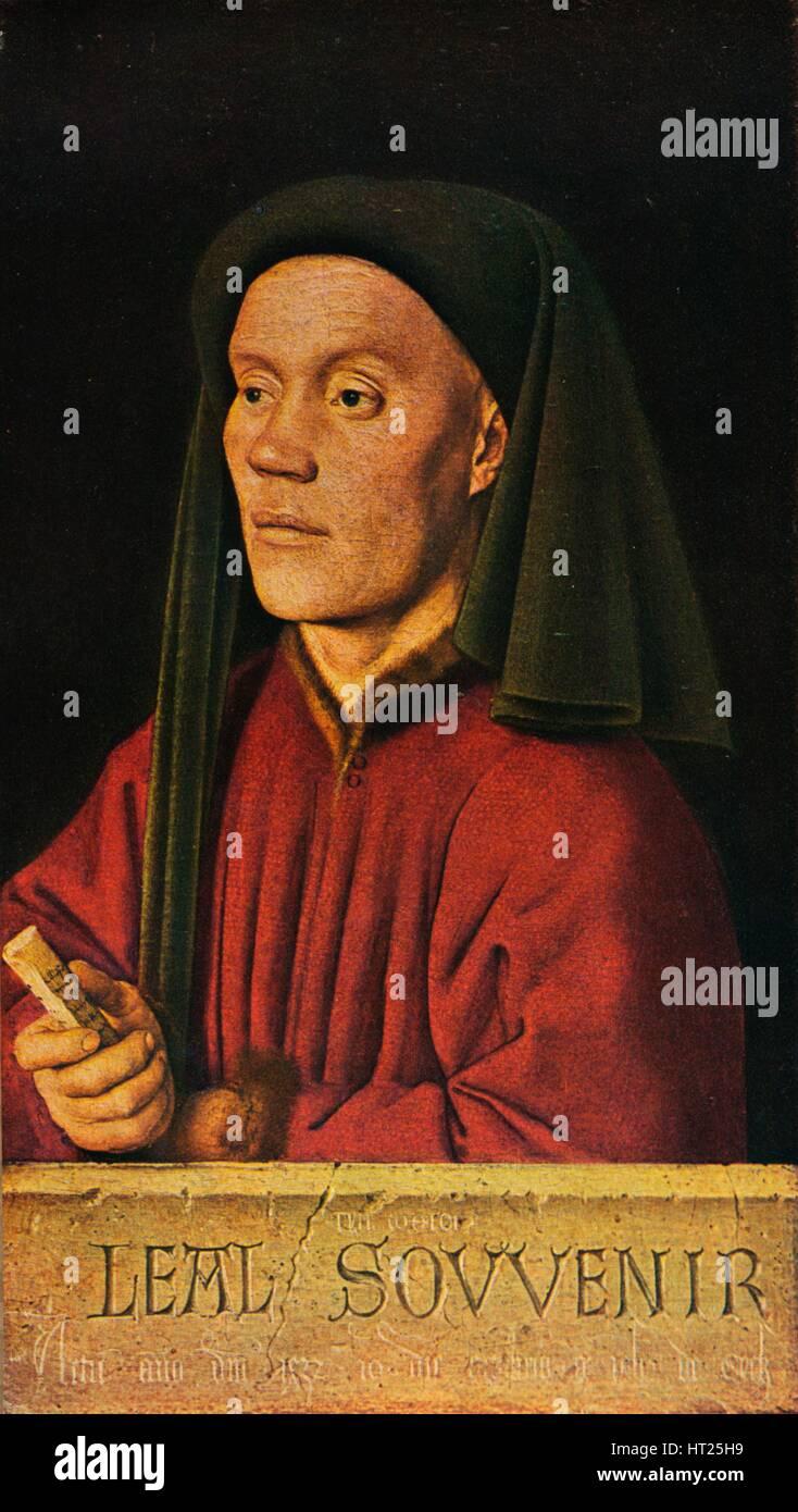 'Portrait of a Man ('Léal Souvenir')', 1432, (1909). Artist: Jan van Eyck. - Stock Image