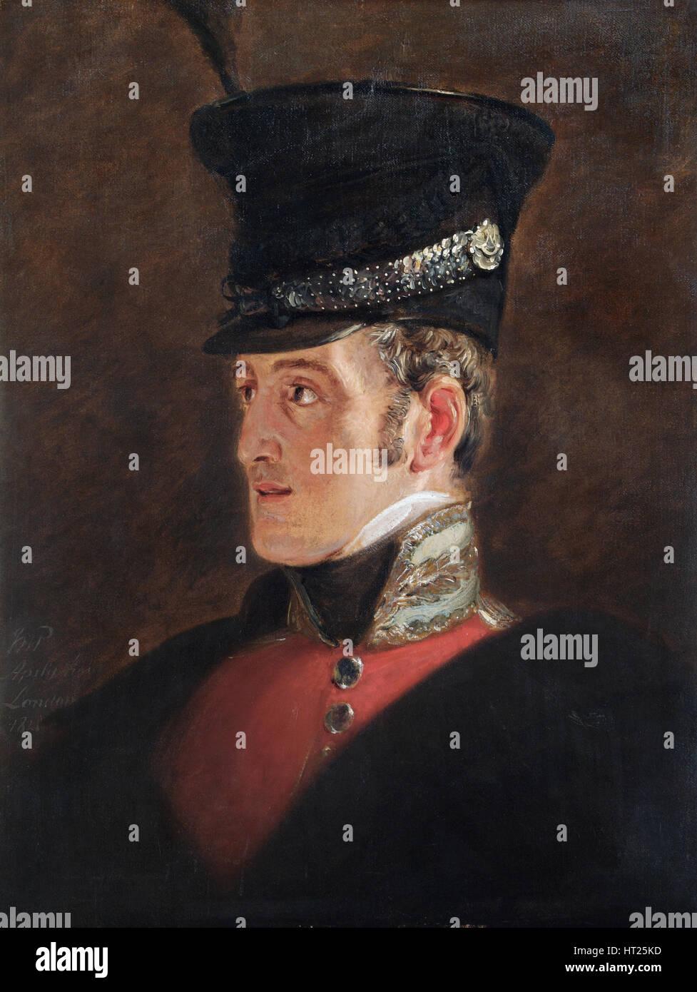 Portrait of Field Marshal Sir John Colborne, British soldier, 1821.  Artist: Jan Willem Pieneman. - Stock Image