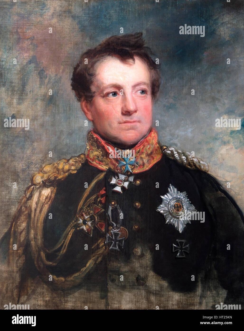 Portrait of Field Marshal August Neidhart, Count of Gneisenau, Prussian soldier, 1818.  Artist: George Dawe. - Stock Image
