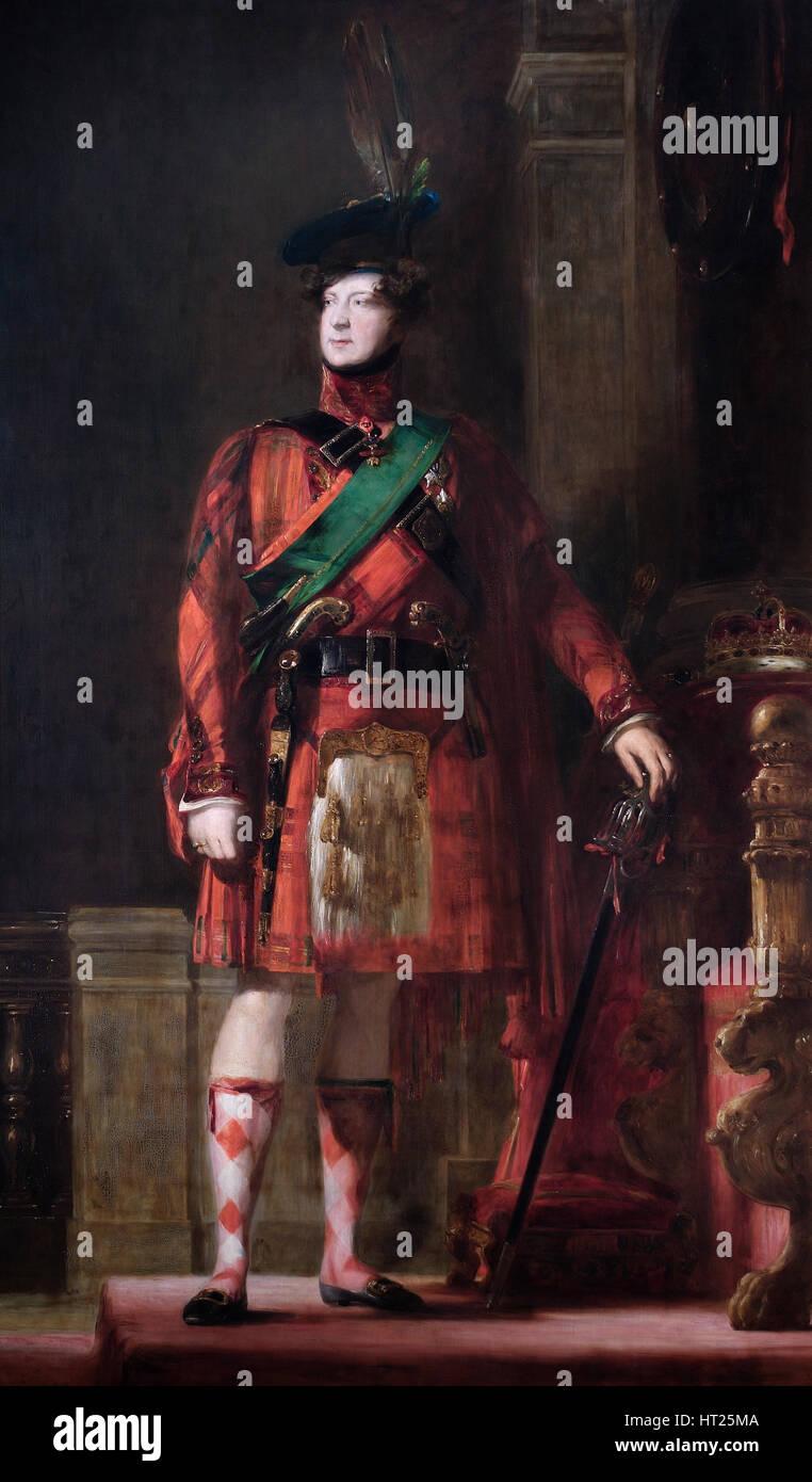 Portrait of King George IV, 1830.  Artist: David Wilkie. - Stock Image