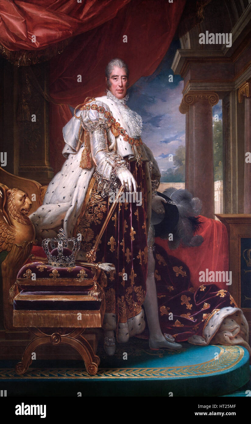 CORONATION OF KING CHARLES X OF FRANCE PAINTING HISTORY ART REAL CANVAS PRINT