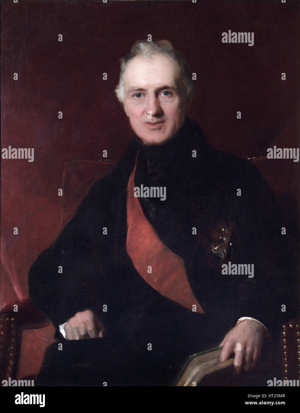 Portrait of General Sir George Murray, British soldier, c1840s. Artist: John Prescott Knight. - Stock Image